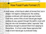 how fossil fuels formed 7