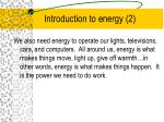 introduction to energy 2