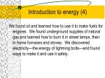 introduction to energy 4