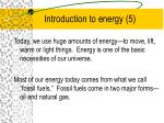 introduction to energy 5