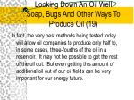 looking down an oil well soap bugs and other ways to produce oil 19