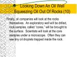 looking down an oil well squeezing oil out of rocks 10