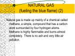 natural gas fueling the blue flame 2