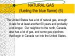 natural gas fueling the blue flame 6