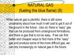 natural gas fueling the blue flame 8
