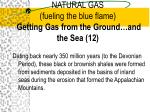natural gas fueling the blue flame getting gas from the ground and the sea 12