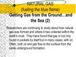 natural gas fueling the blue flame getting gas from the ground and the sea 2