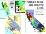 climate zones and planning areas