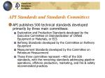api standards and standards committees