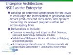 enterprise architecture nsdi as the enterprise