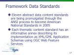 framework data standards