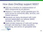 how does onestop support nsdi