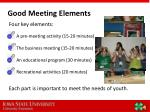 good meeting elements