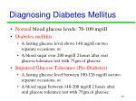 diagnosing diabetes mellitus