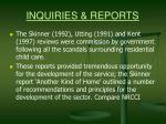 inquiries reports17