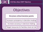 a bit more about sdm objectives