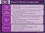elements of a child abuse and neglect report