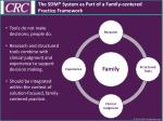 the sdm system as part of a family c entered practice framework