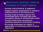 benchmark statement defining principles for english degree