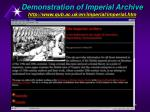 demonstration of imperial archive http www qub ac uk en imperial imperial htm