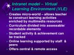 intranet model virtual learning environment vle