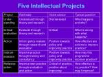five intellectual projects