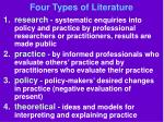 four types of literature
