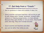 17 get help from a coach