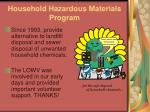 household hazardous materials program