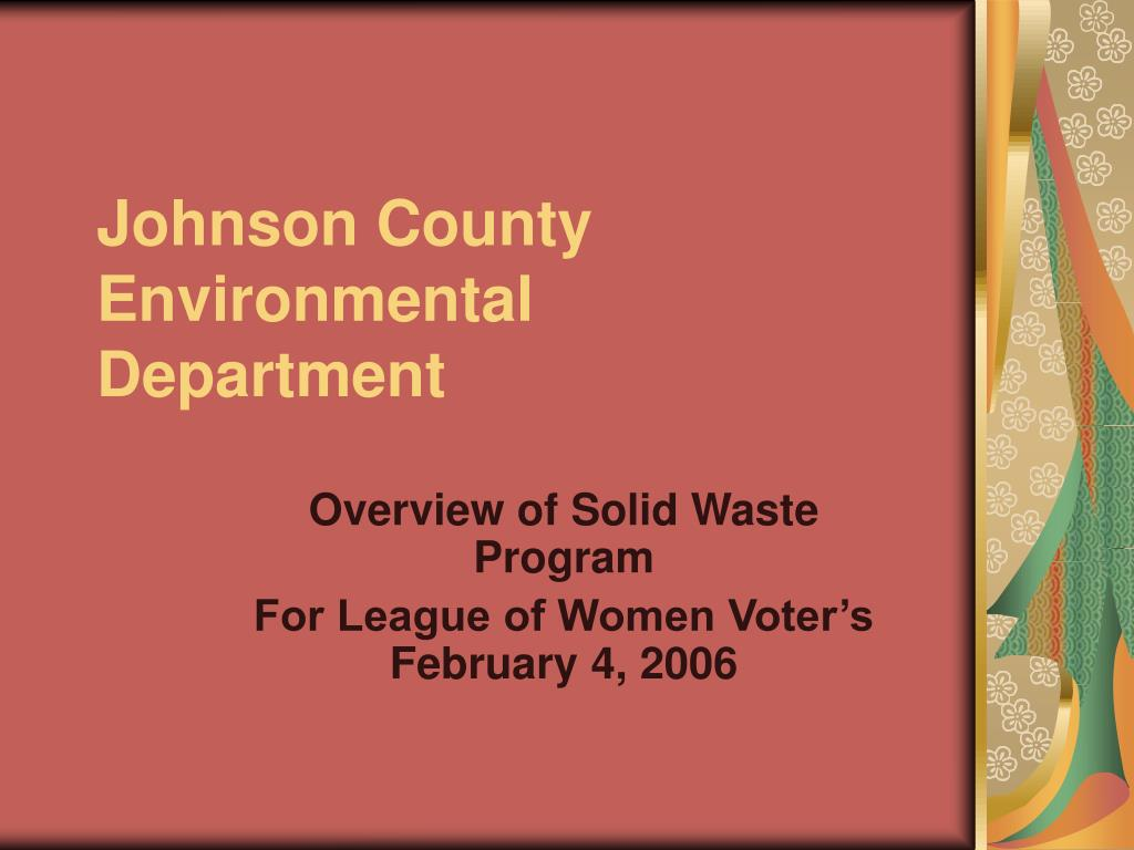 johnson county environmental department l.