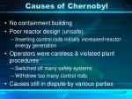 causes of chernobyl