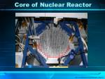 core of nuclear reactor