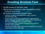 creating uranium fuel