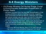 g 8 energy ministers