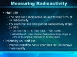 measuring radioactivity