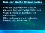 nuclear waste reprocessing