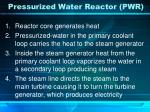 pressurized water reactor pwr
