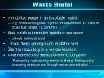 waste burial
