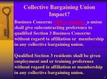 collective bargaining union impact
