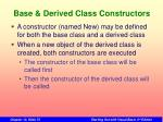 base derived class constructors