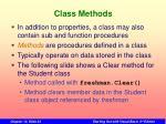 class methods