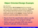 object oriented design example