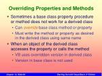 overriding properties and methods