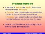 protected members