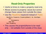 read only properties