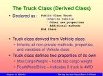 the truck class derived class