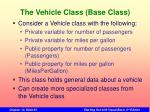 the vehicle class base class
