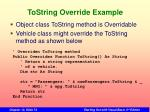 tostring override example