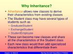 why inheritance