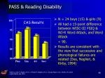 pass reading disability